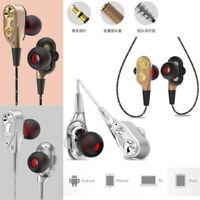 New HIFI In-Ear Earphone Dual Dynamic Driver Headphone Super Bass Stereo Headset