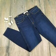 New GENETIC DENIM sz 31 women high rise ankle skinny blue jeans $130 (JH59)
