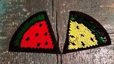 Patch Melone Frucht exotisch mit Wendepailletten Applikation Bügelbild