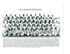 1968 DENVER BRONCOS TEAM 8X10  PHOTO BRISCOE LITTLE FOOTBALL COLORADO NFL USA