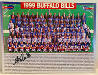 ANDRE REED SIGNED AUTOGRAPHED 8x11 BUFFALO BILLS 99 TEAM PHOTOGRAPH w/COA