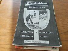 CORBY  TOWN  V  BELPER  TOWN  1991-2  EVANS  HALSHAW  FLOODLIT  CUP  FINAL