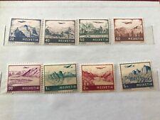SVIZZERA POSTA AEREA 1 MAGGIO 1941 SERIE COMPLETA NUOVA