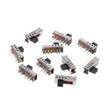 10Pcs SS24E01-G5 Slide Switches Vertical 0.5A 10 Pin 4 Position Toggle Switch