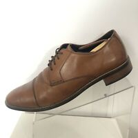 Cole Haan Grand OS 12 Cap Toe Mens Leather Shoes Oxfords Brown Rubber Sole