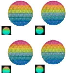 4 x 13cm Glow In Dark Push Bubbles Sensory Pop It Swap with the Mobile to Sleep