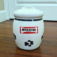 Collectible Milk-Bone Dog Biscuits Ceramic Cookie Jar - Great Condition