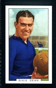 SUPERB GALLAHER SPORTING PERSONALITIES 1936 DIXIE DEAN - EVERTON TYPE CARD