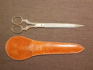 """VINTAGE SEWING  9"""" LONG VALLEY FORGE USA FANCY SCISSORS"""