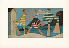 """1955 Vintage """"ON THE BEACH"""" PABLO PICASSO Full Color Plate offset Lithograph"""