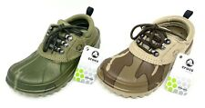 Crocs Axle All Terrain Clogs Mens Size 4 Womens 6 Leather Camo >> NEW