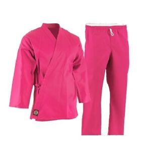 Pink ProForce Lightweight Martial Arts Karate Uniform Elastic Waist