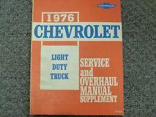 1976 Chevy C10 C20 C30 K10 K20 K30 Truck Engine Overhaul Service Repair Manual