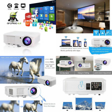 "Wireless Video Projector Full HD 4500 Lumen 200"" Max, Home Cinema Projector"