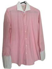 Men`s Pink Shirt  Harwe`s & Curtis Size 15/33 White Collar Cotton hardly used