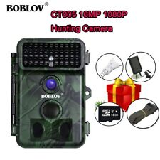 1080P 16MP 16GB Trail Camera Wildlife Cam With Solar Panel + 4 in 1 Card Reader