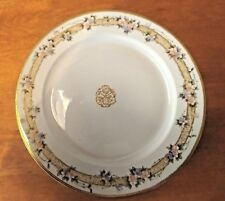 Morimura Brothers (Nortakie) Hand Painted Floral & Gold Beaded Plate Pre-1921
