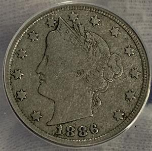 1886 Liberty V Nickel ANACS VG10** Amazingly Under graded ANACS** Unbelievable