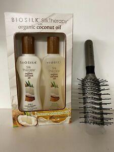 Biosilk organic  Coconut intense moisture treatment  kit & Sebastian Brush set