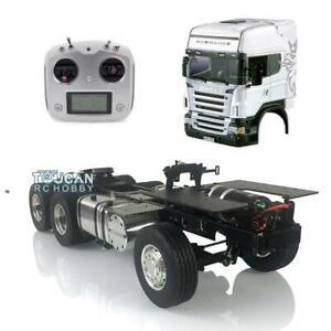 RC 6*4 Metal Chassis LESU 1/14 TAMIYA Scania Hercules Cab Tractor Truck Servo