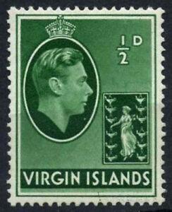 British Virgin Islands 1938-47 SG#110a, 1/2d Green KGVI MH #D25809