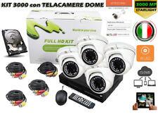 KIT Videosorveglianza DVR 4 H264 + HD + 4 SONY 3000TVL DOME + Aliment.+ Cavi