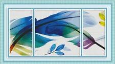 "NEW Cross Stitch Kits DMC "" colorful feather"""