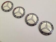 4 Logos Jantes Mercedes-Benz 60mm Plat (Alu./Couleur) Top/Qualitée !!!