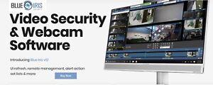 Professional Full Blue Iris Ver 5  Surveillance Monitoring NVR Software