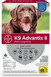 K9 Advantix II Flea & Tick Spot Treatment for Dogs, over 55 lbs ( 6 Pack )