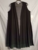 LuLaRoe Womens Joy Vest NW Tags Size Small Color Black upper multi color lower.