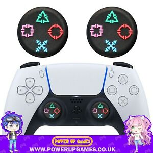 Button Symbol Thumb Grips for PS5 Controller - Playstation Dual Sense PS4