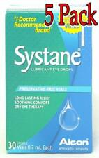 Systane Lubricant Eye Drops, Preservative-Free Vials, 30ct, 5 Pack 300650431330A