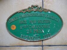 PLAQUE CONCOURS AGRICOLE  BOVINS  1999 PRIM HOLSTEIN !