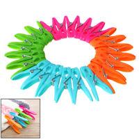 24Pcs Laundry Clothes Pins Hanging Pegs Clips Plastic Hanger Racks Clothesp DH