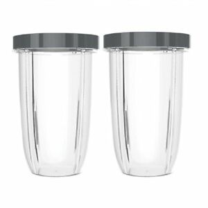 Blendin 2 Pack Extra Large 32oz Cup with Lip Rings,Compatible with Nutribullet