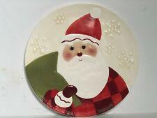 "Hallmark Santa Claus Porcelain Cookie Cake Plate 10 3/4"""