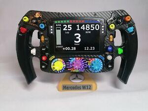 Lewis Hamilton FULL SIZE replica W12 steering wheel_F1_Mercedes. Not Amalgam.