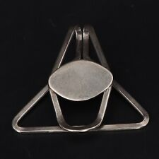 VTG Sterling Silver Modern Engraveable Solid Geometric Triangle Money Clip - 8g