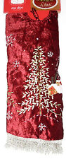 Christmas Tree Skirt 48 inches, Trim A Home, Dark Red, New w/Tag