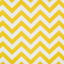 1m Premier Prints Fabric - Zig Zag Corn Yellow / Slub PER METRE chevron curtain