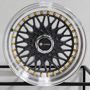 """4-New 15"""" Vors VR3 Wheels 15x8 4x100/4x114.3 20 Gun Metal Rims 73.1"""