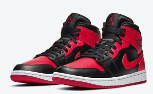Nike Air Jordan 1 Mid Banned 2020 Black Red White 554724-074 in hand ships now!