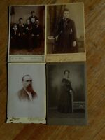 Lot of 4 PHOTOs Cabinet Cards Vintage early 1900's ? Nebraska Iowa Omaha Pierce
