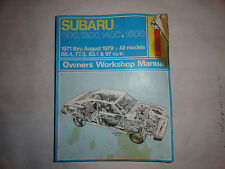 Haynes Subaru 1971-1979 Service Repair Manual All Models 66.4 77.3 83.1 97 CID