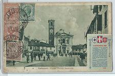 CARTOLINA 1919 GALLARATE PIAZZA VITTORIO EMANUELE 1113/A
