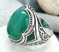 Classy Women Men 925 Silver Round Turquoise Ring Wedding Jewellery Couple Gift