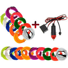 2-M Neon LED Light Glow EL Wire String Strip Rope Tube Car Interior Decor bright