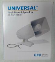 UPG SP30 Universal Horn Siren Speaker 30 Watts Indoor / Outdoor 120 dB - White