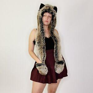 Spirithoods Grey Wolf Festival Spirit Guide Ear Hat Scarf Glove Pocket 2011-2012